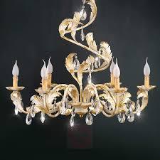 Weiß Goldener Kronleuchter Antonio Mit Kristallen
