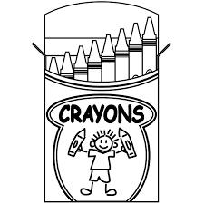 crayon box coloring page clipart panda free images