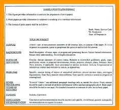 Sample Formal Report Research Project Report Template Writing Format Example