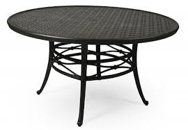 9000 series 54 round cast aluminum dining table by mallin