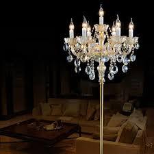in floor lighting fixtures. 7 arms champagne crystal floor lamp modern led wedding candlestick living room lamps bedroom bedside in lighting fixtures