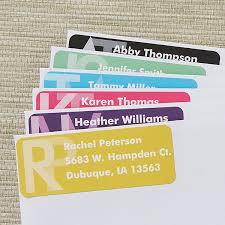 Monogram Return Address Labels Large Personalized Return Address Labels Monogram