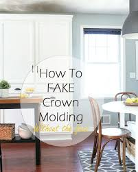 Kitchen Crown Moulding My Diy Kitchen Cabinet Crown Molding How To Fake The Look