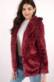 red faux fur coat fur jackets wine ed sangria faux fur jacket red faux fur coat
