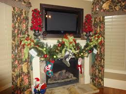 Winsome Mantle Hosting A Tv Over As Wells As Fireplace Cheryl Draa in Christmas  Mantel Decorations