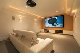 Home Theater Ideas For Small Rooms Picture Frame On The Beige Wall