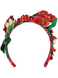 Dolce Hair Design Dolce Gabbana Embellished Floral Hair Band Farfetch