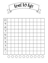 Life Goal Chart Template Bullet Journal Level 10 Life Printable Chart Printable
