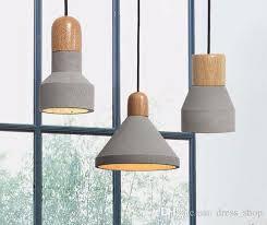 loft wonderful statement gray industrial concrete pendant wood lamp for coffee club bar hanging lamp scandinavian design flush ceiling lights glass