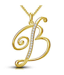 kataria jewellers letter b gold plated 92 5 sterling silver and swarovski alphabet initial pendant