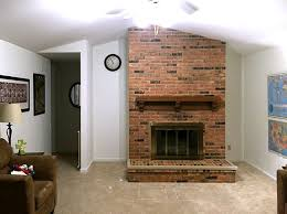 fireplace and brick chimney diy removal picture before