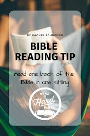 Bible Reading Tip Read One Bible Book In One Sitting Read