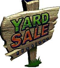 Image result for yard sale sign