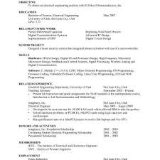 Sample Resume For Mechanical Engineering Internship Fresh Mechanical
