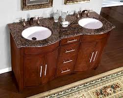 Bathroom Vanity Granite Silkroad 58 Double Bathroom Vanity Brown Granite Top White Sinks
