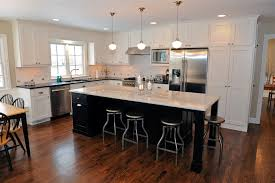 L Shaped Kitchen with Island Ceiling