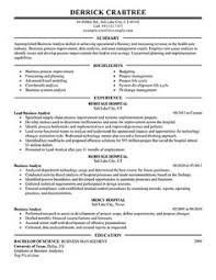 Business Analyst Resume Sample | Career DIY | Pinterest | Business ...
