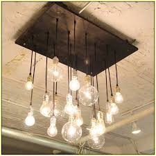 diy edison light chandelier