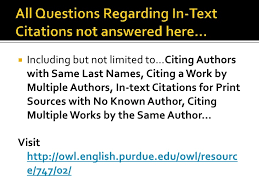 In text citations     No Author
