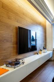 Small Picture Wooden wall panelling adds warmth to the sophisticated living room