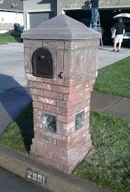 brick mailbox flag.  Brick Masonry Mailbox Flag Custom Brick With Glass Blocks Home Design  Outlet Center Promo Code With Brick Mailbox Flag