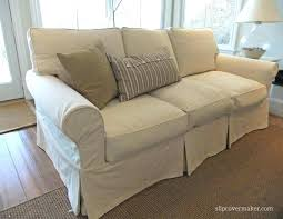 canvas sofa cover custom slipcovers for sofa boxed seats loose fit round arm sofa intended for