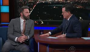 Stephen Colbert Asks Ben Affleck About Being Accused of Harassment ...