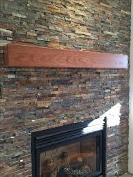 handmade cherry modern beam fireplace mantel by custom corners llc custommade com
