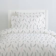 189 00 229 00 blush pink and silver gray hand drawn feathers duvet cover