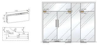 door patch for glass doors detail