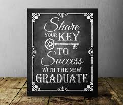 Key To Success Chalkboard Graduation Sign Graduation Party Etsy