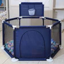 Báo giá Cũi quây bóng khung inox chắc chắn an toàn cho bé (xanh dương) chỉ  375.000₫