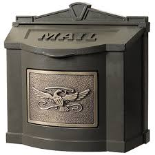 aluminum mailbox post. Gaines Eagle Wall Mount Mailboxes Aluminum Mailbox Post
