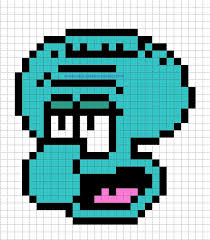 Minecraft Pixel Art Templates Squidward Spongebob