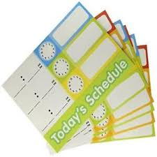 Details About Scholastic Teachers Friend Schedule Cards Pocket Chart Add Ons Multiple Colors