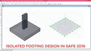Pad Foundation Design Example Isolated Footing Design In Safe 2016
