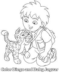 Small Picture Baby Jaguar Love Diego in Go Diego Go Coloring Page NetArt