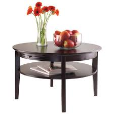 amelia transitional round coffee table