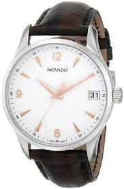 dress watches leather dresses and brown leather movado men s 0606570 circa brown leather dress watch movado