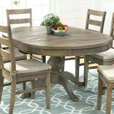 dining table seats round extendable set modern rustic