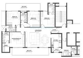 4 bhk 2500 sq ft apartment floor plan