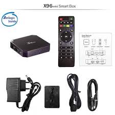 Original X96 mini Android 7.1 X96mini Smart TV BOX S905W Quad Core support  2.4G Wireless WIFI media box Set Top Box IR cable|Set-top Boxes