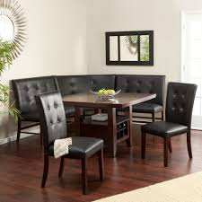 leather breakfast nook furniture.  Furniture 6 Kitchen Black Dining Set Leather Wood Corner Breakfast Nook Table Bench  Chair And Furniture R