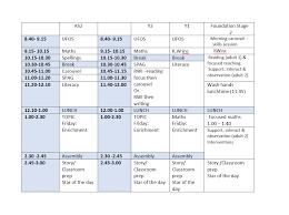 Weekly Timetable Skelton Primary School