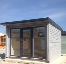 office doors with windows. 3.0m X Garden Pod, Office, Grey Anthracite UPVC Windows And Doors Office With A