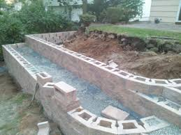 Small Picture Cheap Retaining Wall Ideas What caused movement in new retaining