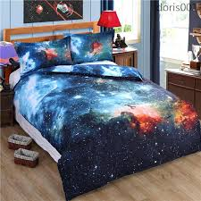 space duvet cover thicken hipster galaxy bedding set universe outer space themed duvet cover bed sheet