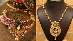Antique Gold Jewellery Necklace Designs Antique Gold Jewellery Necklace Designs With Price