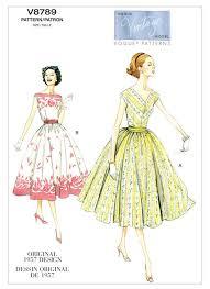 Vogue Pattern Extraordinary V48 Misses'Misses' Petite FullSkirt Dresses And Cummerbund