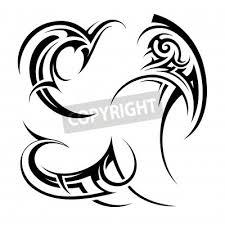 Fototapeta Sada Různých Domorodé Umění Tetování Ornamenty Na Bílém